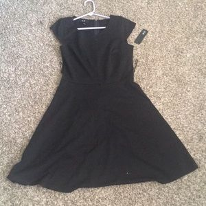 Black dress, small with belt loops, tag on (new).